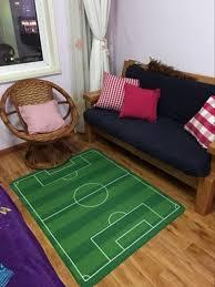 Unique Children Carpet Soccer Cartoon Kids Rug Boys Play Football
