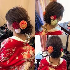 平原さんのヘアスタイル 和装前撮り宮崎市ヘア Tredina