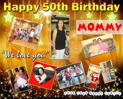 Happy 50th Birthday Tarpaulin Designs Golden 50th Birthday Celebration Tarp Design Cebu Balloons