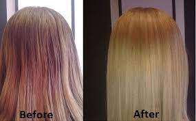 hair color remover before and after