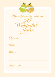 Free Printable 50 Year Anniversary Party Invitation In 2019