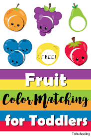 Print out these free printable preschool coloring pages online and let your children play with crayons, watercolors and color pencils. Fruit Color Matching For Toddlers Totschooling Toddler Preschool Kindergarten Educational Printables