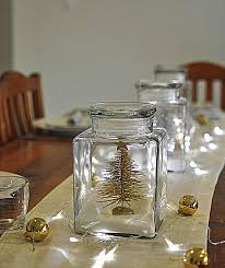 Glass Jar Table Decorations The Magic Of Fairy Lights For Holiday Decorating Christmas 37