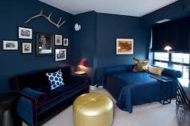 View In Gallery Contemporary Bedroom Where Blue Outshines White With Ease