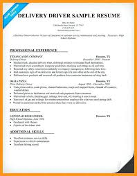 Delivery Driver Sample Resume Sample Resume For Delivery Examples