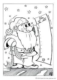 Santa Claus And Reindeer Coloring Pages Color Gifts List Com Big