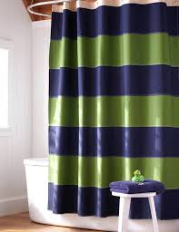 smlf a shower curtain with navy blue and lime green stripes dark green cloth shower curtain bathroom