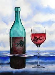 wine fish the official website of artist dy fish art wine art