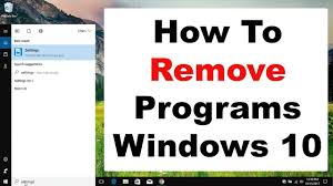 How To Remove Programs On Windows 10 Youtube