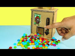 How To Make A Candy Vending Machine Out Of Cardboard Delectable How To Make A Gems Or Candy Dispenser Machine Using Cardboard DIY
