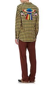 gucci ufo. gucci ufo-embroidered plaid wool-cotton shirt - casual 505138712 ufo