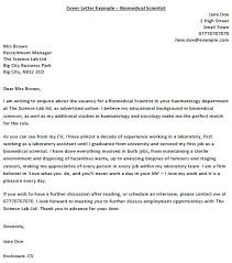 Further Discuss Biomedical Scientist Cover Letter Example Icover Org Uk