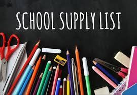 School Supplies 2019-2020 - Rose Tree Elementary School