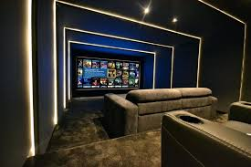 theater room lighting. Home Theater Rooms Custom Lighting Scenes In Media Sectional To Go Room