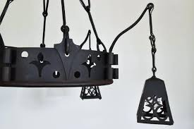 full size of wrought iron chandelier melbourne arts and crafts french signed cast with hanging lantern