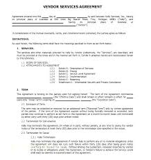 Independent Contractor Agreement Template Simple Vendor Agreement Template