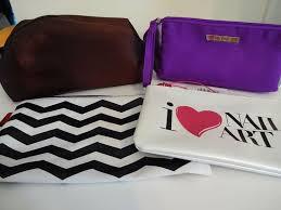 lot of 4 makeup bags pouches clinique laura mercier sally hansen sephora