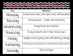 Workout Schedule Template Pdf With Training Chart Plus Planner