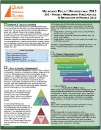 project management quick reference guide buy microsoft project standard professional 2013 quick reference