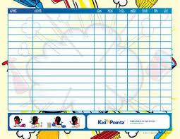 Chorecharts Printable Kid Pointz