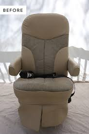 looking for ways to update your old rv captain s chairs come see how we spruced