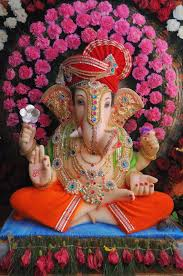 ganpati decoration ideas at home with flowers