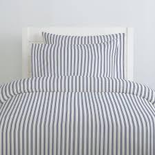windsor navy ticking stripe duvet cover