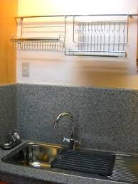 kitchen sink and wall hanging stainless steel dish rack cutlery basketjpg stainless steel hanging basket chain