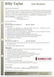Mechanic Resume Examples Best Auto Mechanic Resume Example 48