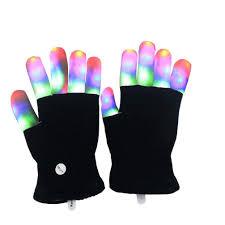 Light Gloves Kids Led Finger Light Gloves Amazing Colorful Flashing Novelty Toys For Children Boys Girls No Box Package