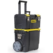 stanley tool box with wheels. stanley 11.5-in black plastic lockable wheeled tool box with wheels