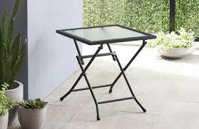 mainstays glass folding side table