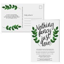 Photo Invitation Postcards Amazon Com Nothing Fancy Just Love Wedding Reception