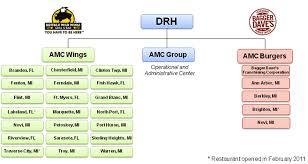 Amc Organization Chart Form 10 K A