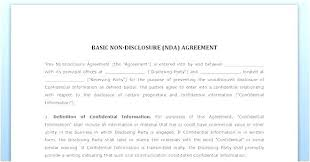 Simple Nda Template Free New Non Disclosure Confidentiality Agreement Free Template Nice
