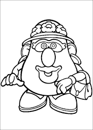mr and mrs potato head coloring pages. Coloring Page Mr Potato Head KidsnFun Intended And Mrs Pages