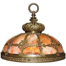 antique chandelier slag glass hanging lamp for