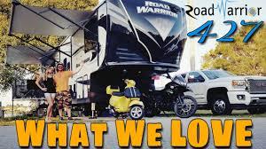 2017 heartland road warrior 427 toy hauler what we love ep 5 road warrior life