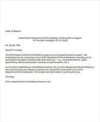 22 Letter Of Support Samples Pdf Doc Sample Templates