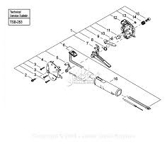 Shindaiwa t261b parts diagram for throttle control new style
