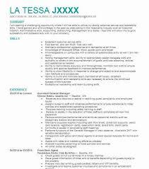 General Resume Outline Assistant General Manager Resume Sample Manager Resumes