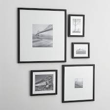 black picture frames wall. Contemporary Black 5Piece Matte Black Picture Frame Set  Crate And Barrel In Frames Wall