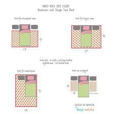 area rug size for queen bed elegant how to place a rug in a bedroom twin