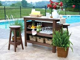 portable patio bar image of wooden outdoor bar furniture free portable outdoor bar plans