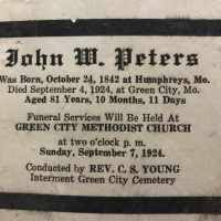 John Wesley Peters (1842-1924) • FamilySearch