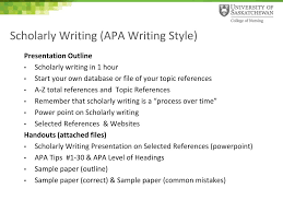 Ppt Scholarly Writing Apa Writing Style Powerpoint Presentation