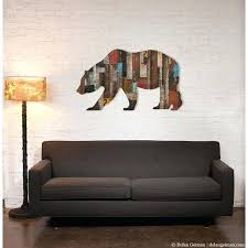 bear wall decor wall art wall shelves wall art bear head wall decor target bear wall decor  on geometric bear wall art with bear wall decor black bear metal wall art at rust geometric bear