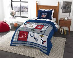 8pc nfl twin bedding set football afc vs nfc comforter and multi team anthem sheets com