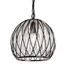the lighting collection pascal domed ceiling pendant in black frame with clear glass
