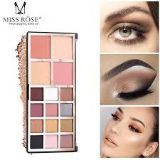 <b>MISS ROSE 12 color</b> matte eyeshadow palette longlasting ...